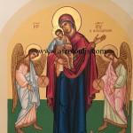 Παναγία Φανερωμένη, δια χειρός Μιλτιάδη Αφεντούλη - Theotokos with two Angels, by the hand of Miltiadis Afentoulis