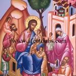 Ο Ιησους ευλογών τα παιδιά, δια χειρός Μιλτιάδη Αφεντούλη - Jesus Blesses the Children, by the hand of Miltiadis Afentoulis