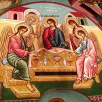 H Φιλοξενία του Αβραάμ, δια χειρός Μιλτιάδη Αφεντούλη - The Holy Trinity, by the hand of Miltiadis Afentoulis