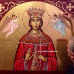 Αγία Ειρήνη, δια χειρός αγιογράφου Μιλτιάδη Β. Αφεντούλη - Saint Irene, by the hand of the iconographer Miltiadis V. Afentoulis.