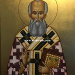 Ο Άγιος Αθανάσιος ο Μέγας, δια χειρός Μιλτιάδη Β. Αφεντούλη - Saint Athanasios the Great, by the hand of Miltiadis V. Afentoulis.