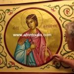 αγιογράφος Μιλτιάδης Αφεντούλης - Άγιος Φανούριος /iconographer Miltiadis Afentoulis - Saint Fanourios