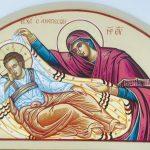 Ο Ιησούς Χριστός Αναπεσών, δια χειρός Μιλτιάδη Αφεντούλη - Jesus Christ The Anapeson (Christ Reclining), by the hand Miltiadis Afentoulis.
