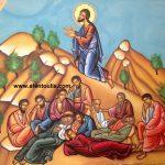 Προσευχή στο Όρος των Ελαιών, δια χειρός αγιογράφου Μιλτιάδη Β. Αφεντούλη - Praying in Gethsemane, by the iconographer Miltiadis V. Afentoulis.