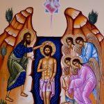 Η Βάπτιση, δια χειρός αγιογράφου Μιλτιάδη Β. Αφεντούλη - The Baptism, by the hand of the iconographer Miltiadis V. Afentoulis.