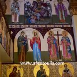 Άγιοι, δια χειρός αγιογράφου Μιλτιάδη Αφεντούλη -Saints, by the hand of the iconographer, Miltiadis Afentoulis.