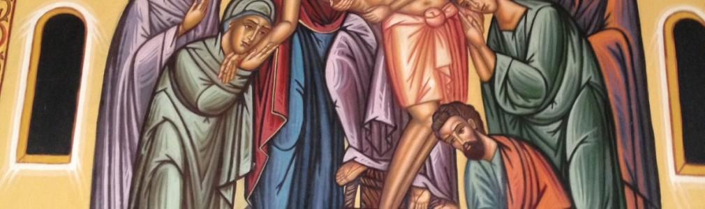 Τοιχογραφία-Η Αποκαθήλωσις του Ιησού Χριστού
